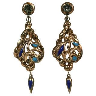 Victorian Enamel Earrings For Sale