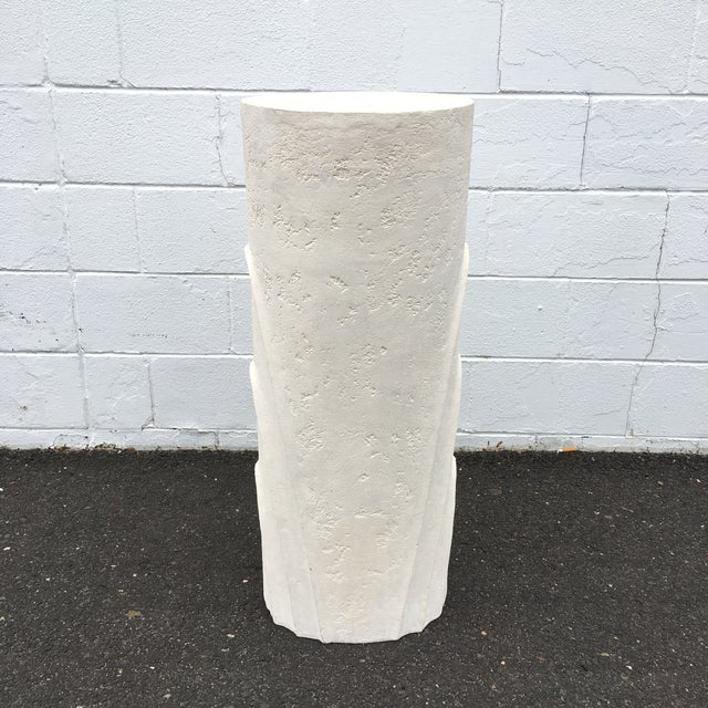 Concentric Oval Sculptural Plaster Pedestal For Sale - Image 4 of 8