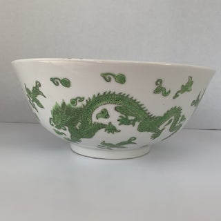 Chinese Japanese Green Dragon Bowl Preview