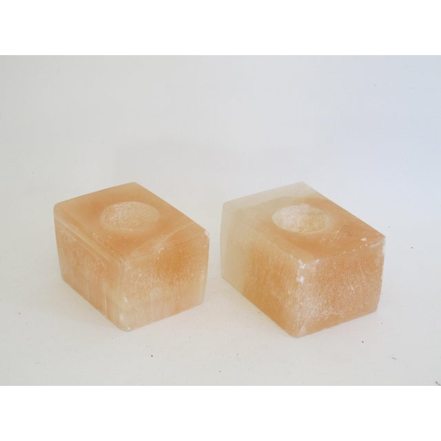 Pink Calcite Votive Candle Holders - A Pair - Image 2 of 7