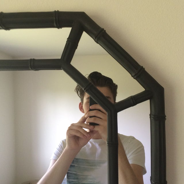 Hollywood Regency Faux Bamboo Mirror - Image 2 of 4