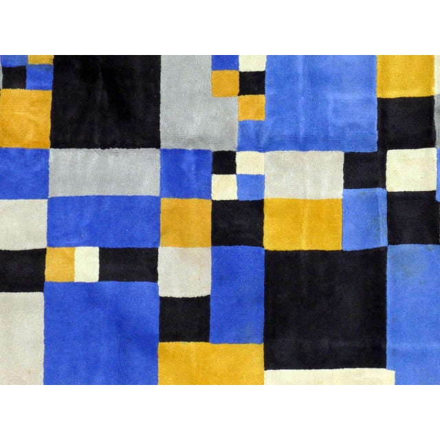 """Sonia Delaunay Limited Edition Rug After Sonia Delaunay - """"Magical Squares"""" For Sale - Image 4 of 7"""