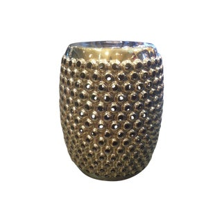 Gold Cynthia Stool or Side Table For Sale