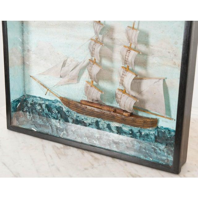 19th Century English 19th Century Nautical Diorama For Sale - Image 5 of 7