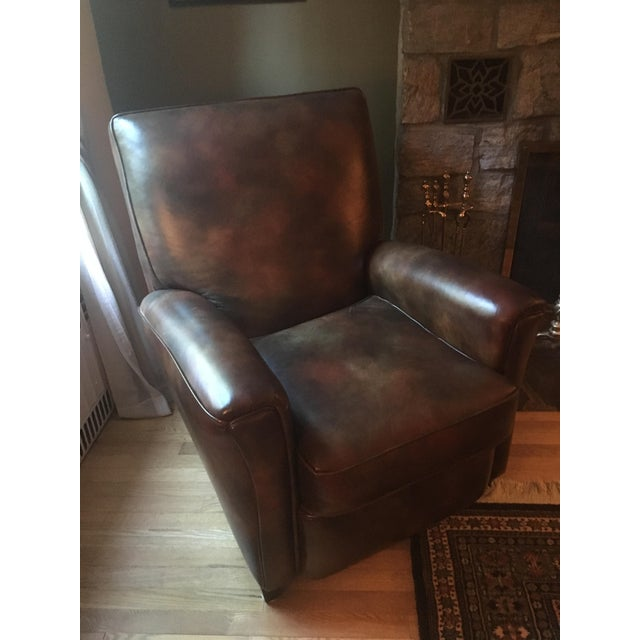 Bradington Young Leather Reclining Chairs A Pair Chairish