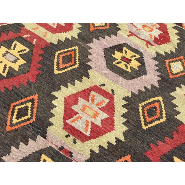 Vintage Turkish Kilim Rug For Sale In Raleigh - Image 6 of 9