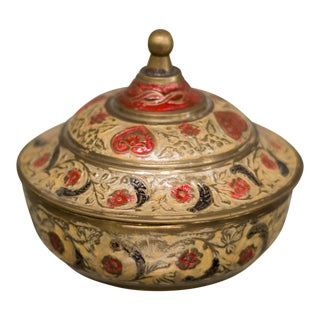 Vintage Solid Bronze Decorative Box