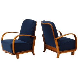Pair of Austrian Art Deco Armchairs For Sale