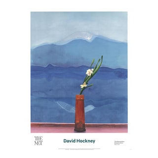 David Hockney, Mount Fuji and Flowers, Edition: 1500, Offset Lithograph, 2016 For Sale