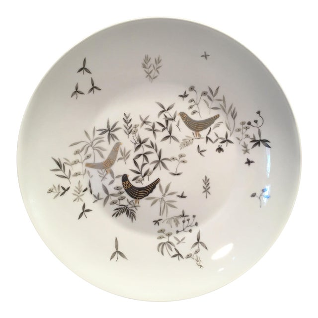 1960s Vintage Raymond Loewy for Rosenthal Birds on Trees Porcelain Plate For Sale