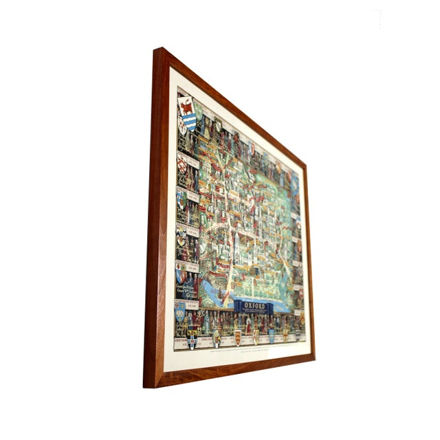Country 1940's Medieval College Pictorial Map of Oxford University For Sale - Image 3 of 4