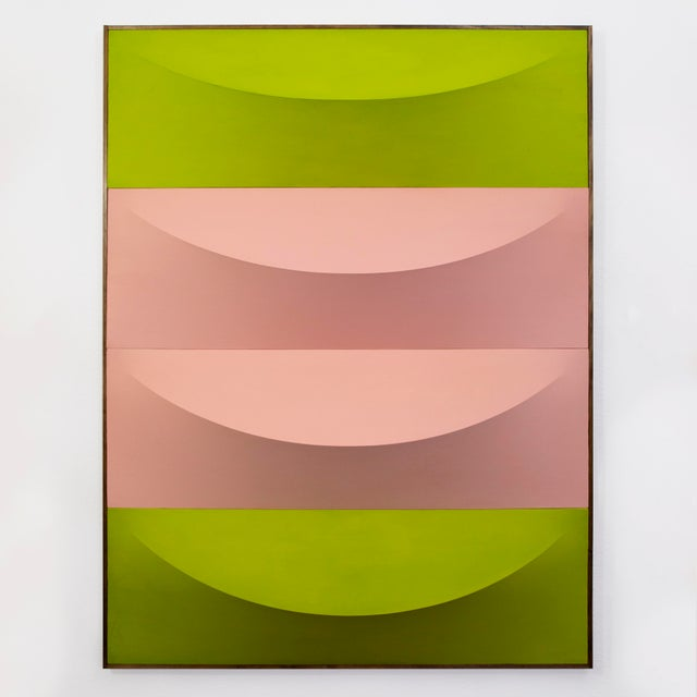No.1-7 Green & Pink Artwork by Charlie Oscar Patterson For Sale - Image 4 of 4