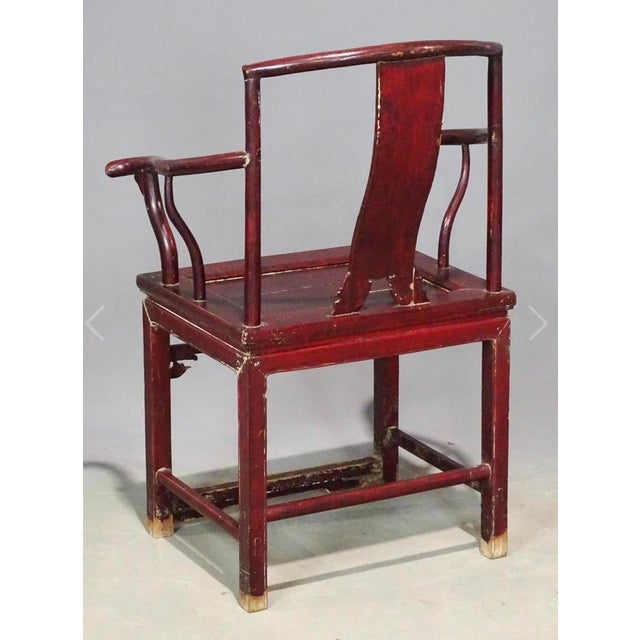 Chinese Antique Chinese Armchair (Guanmaoyi) From Irwin & Lane For Sale - Image 3 of 4