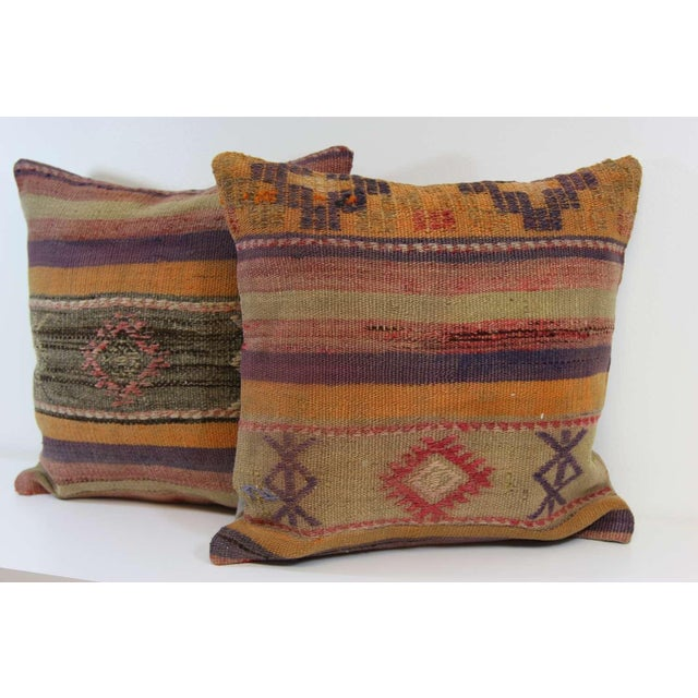 Turkish Kilim Pillow Covers - A Pair - Image 6 of 7