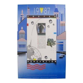 1987 Original Vintage Convention Poster - Bob Helsley/Michael Clark For Sale