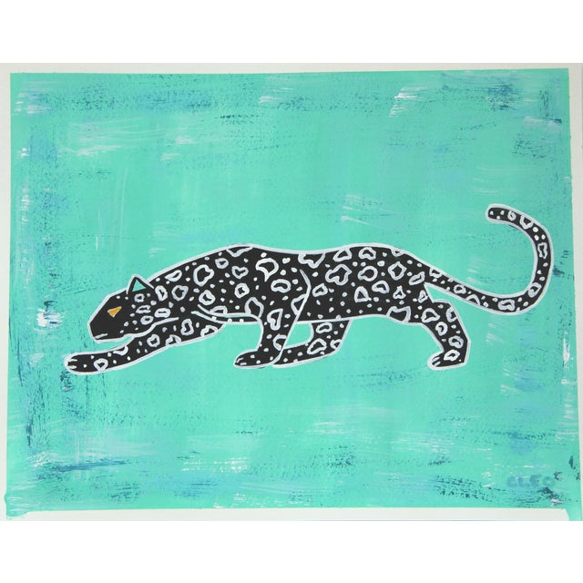 Abstract Leopard Chinoiserie by Cleo Plowden For Sale