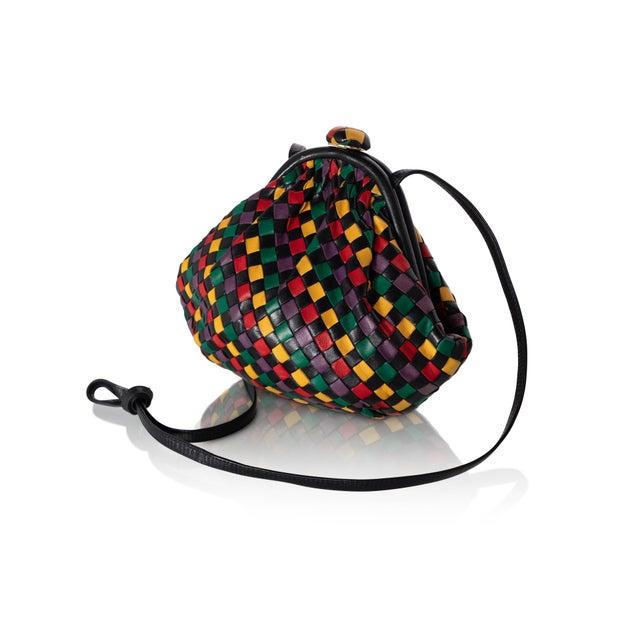 Abstract Vintage Bottega Veneta Intrecciato Harlequin Shoulder Bag For Sale - Image 3 of 8