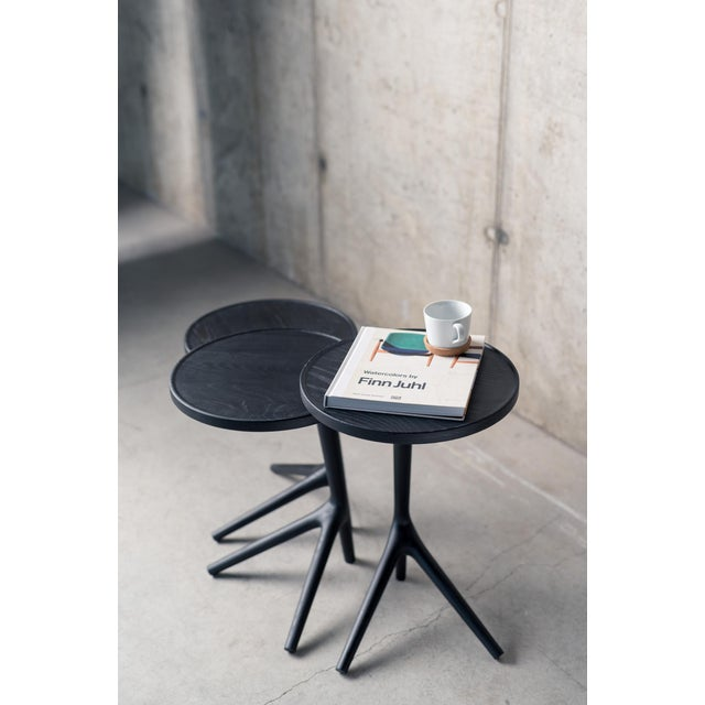 Contemporary Contemporary Tripod Nesting End Tables - Set of 3 For Sale - Image 3 of 13