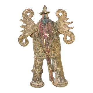 Antique Brass Elephant Figurine | Kashmir India For Sale