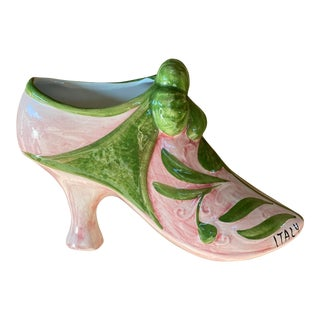 Italian Pink and Green Wall Decor For Sale