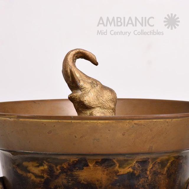 1960s Hollywood Regency Elephant Ice Bucket For Sale - Image 5 of 8