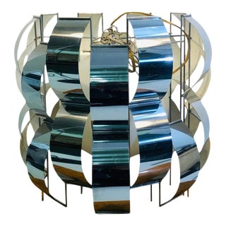 Curtis Jere Chrome Hanging Chandelier For Sale