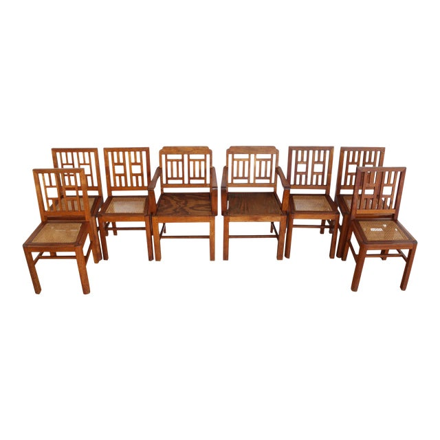Antique Arts & Crafts Chairs- Hand Caned Craftsman Oak - Image 1 of 11
