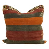 Image of Vintage Turkish Hand-Woven Kilim Throw Pillow Cover For Sale