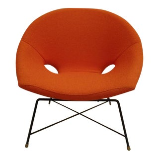 Pair of Italian Canti-Levered Lounge Chairs by Augusto Bozzi