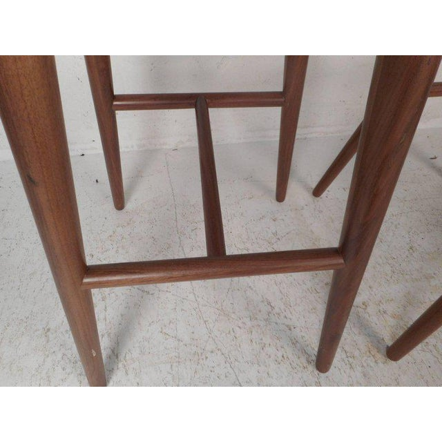 1970s Contemporary Modern Bar Stools - A Pair For Sale - Image 5 of 8