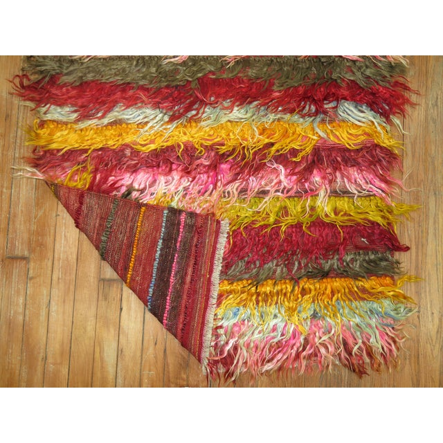 Vintage Tulu Shag Rug 3′ × 4′8″ For Sale - Image 4 of 5