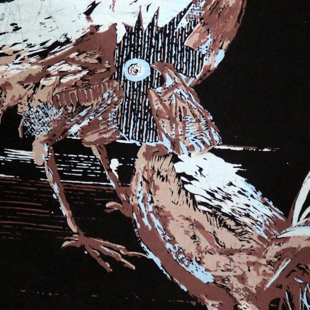 Robert Bushong Silkscreen Wall Scroll Chanticleer for Tom Tru Raymor Mid Century Modern For Sale - Image 12 of 13