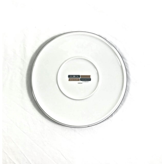 1970s Block Chromatics Salad Plates, Set of 8 For Sale In Raleigh - Image 6 of 7