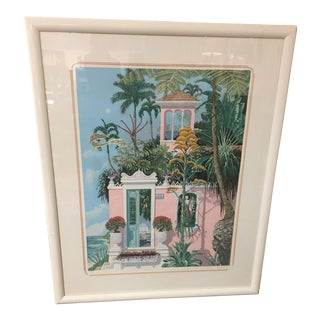 "John Kiraly ""Poinciana Palace"" Serigraph For Sale"