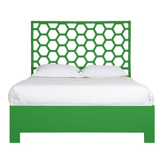 Honeycomb Bed Queen - Bright Green For Sale