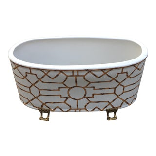 Port 68 Bamboo Baldwin Ceramic Oval Planter