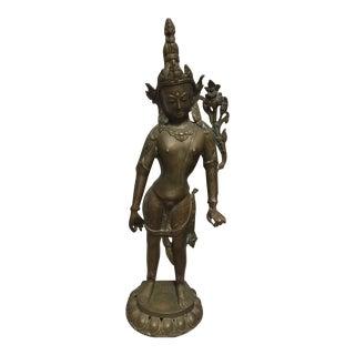 Tibetan Bronze Figure of Manjusri the Bodhisattva of Wisdom For Sale