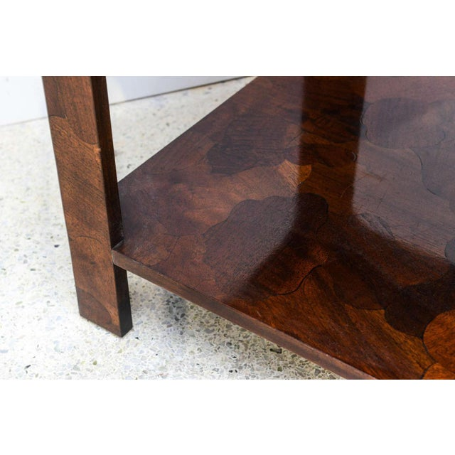 1960s American Modern Inlaid Mixed Wood Table, American of Martinsville For Sale - Image 5 of 9