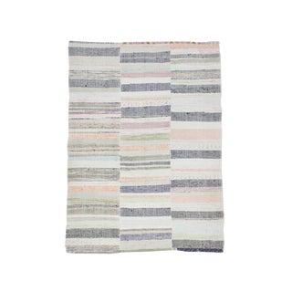 1960s Turkish Decorative Striped Rag Rug For Sale