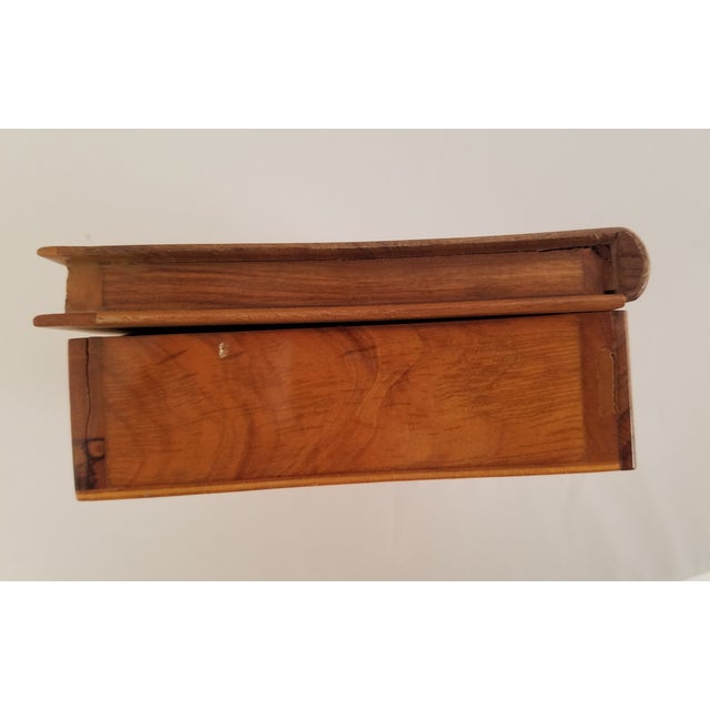 Late 19th Century English Olive Wood Sewing Spool Box For Sale - Image 10 of 10