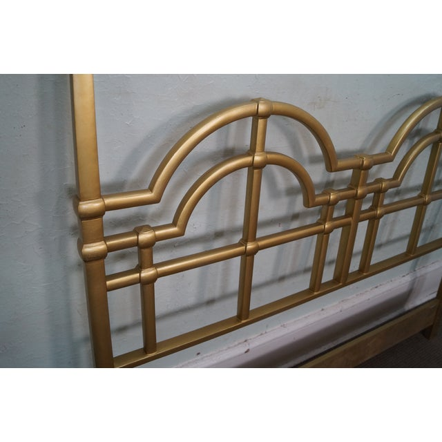 Mid-Century Gold Painted Metal Queen Headboard - Image 6 of 10