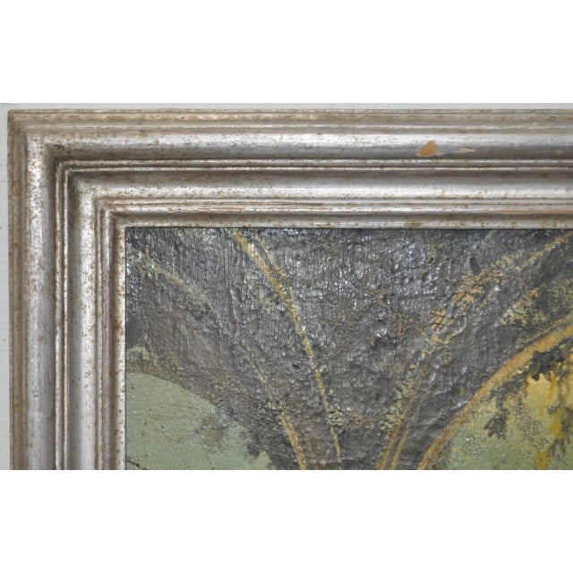 Blue 19th Century Italian School Oil Painting For Sale - Image 8 of 10