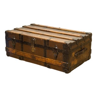 Antique L. Goldsmith and Son Cabin Trunk, Circa 1900 For Sale