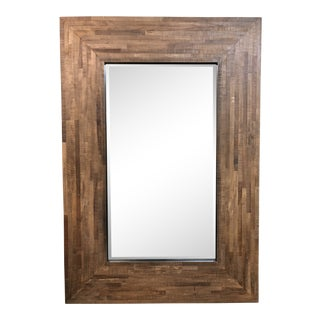 Seguro Reclaimed Wood Wall Mirror, From Crate & Barrel For Sale