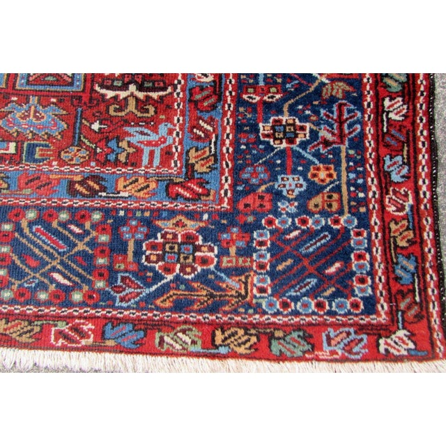 Persian 1920s, Handmade Antique Persian Heriz Rug 4.9' X 6.1' For Sale - Image 3 of 11