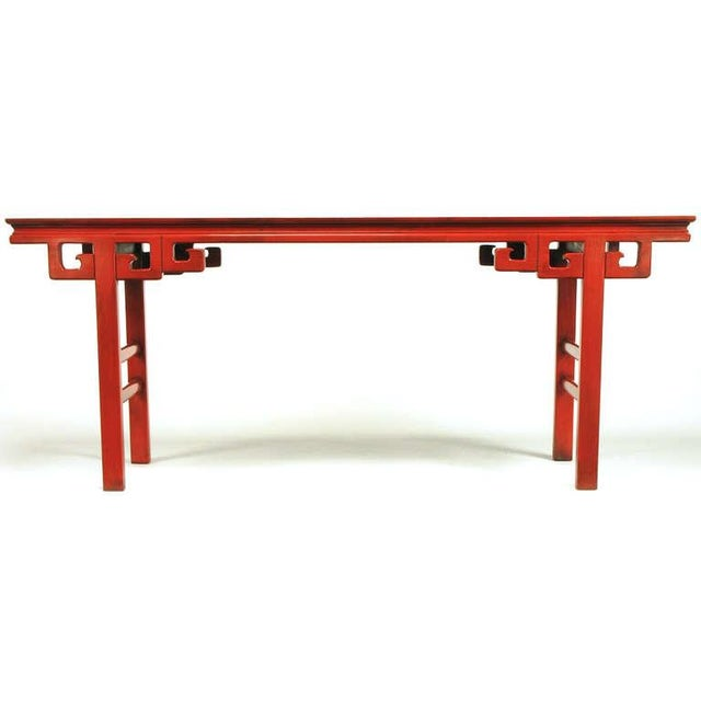 1950s Circa 1950s Chinese Altar Table In Cinnabar Lacquer For Sale - Image 5 of 9