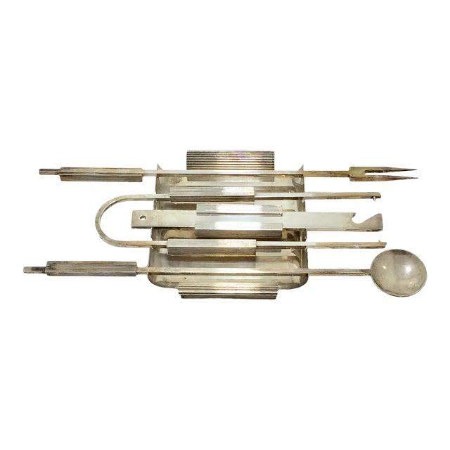 Mid Century Italian Bar Set Tools- 5 Pieces For Sale