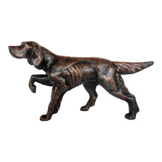 1980s Americana Patinated Copper Spelter Dog Sculpture