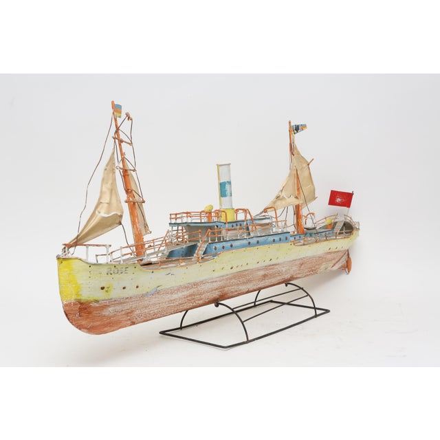Large Model Boat Ship with Stand - Image 3 of 9