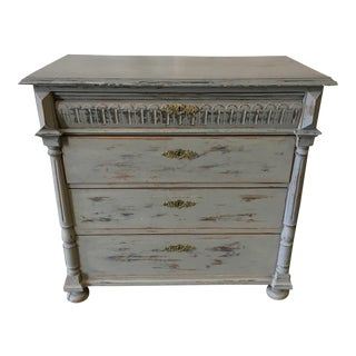 Swedish Painted Commode Chest of Drawers For Sale